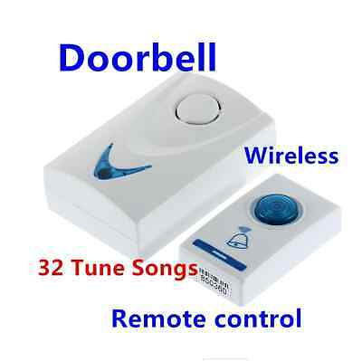 LED 32 Tune Songs Wireless Chime Door Bell Doorbell & Wireles Remote Control SY