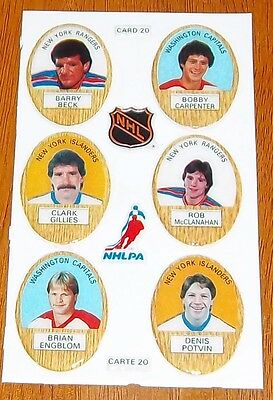 Funmate Puffy Stickers 1983-84 card # 20  /  6 players