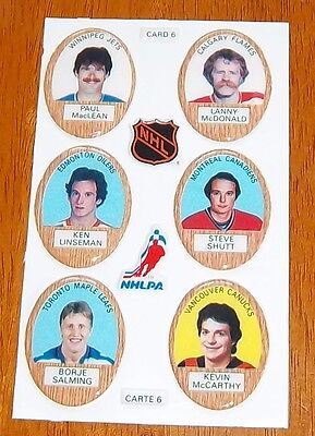 Funmate Puffy Stickers 1983-84 card # 6  /  6 players