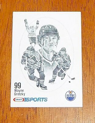 Wayne Gretzky Kraft sports hockey card  1986-87