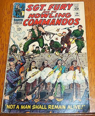 sgt. fury and his howling commandos  # 28 marvel comics