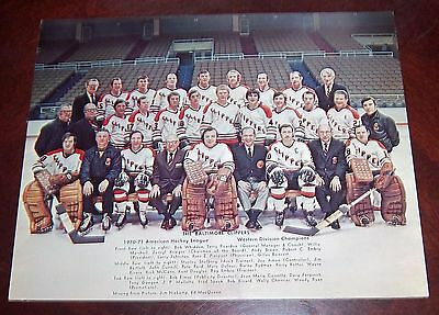 Baltimore Clippers Hockey Team Photo 1970-1971  from the Woody Ryan Collection
