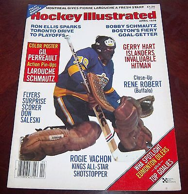 Hockey illustrated  April 1978 Rogie Vachon with color inserts