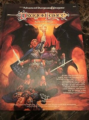 Official Dungeons And Dragons Dragon Lance Adventures 1987