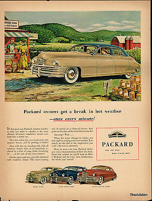 1948 Packard Custom Eight Original Laminated Ad Art Same Day Shipping!!