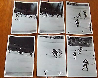 WHA  chicago cougars vs ?  6 photos 1970's lot # 9