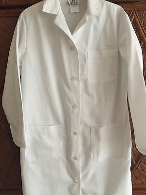 "Women's Meta Twill 39"" Length White 1st Quality Lab Coats for 13.75 Sizes: 28-50"
