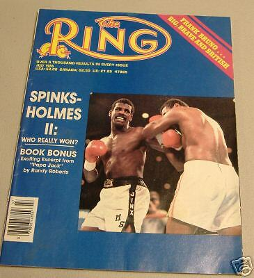 boxing  ring magizine  july 1986 spinks-holmes II: