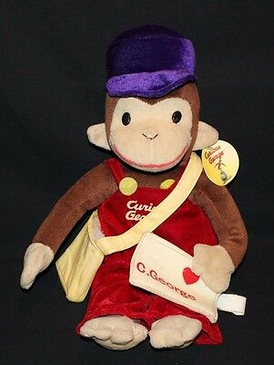 Curious George Mail Carrier Letter Plush Stuffed Animal Toy Network 16""