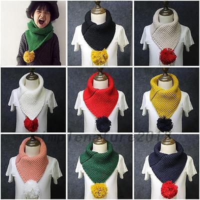 Winter Girl Boy Kids Toddler Knitted Scarf Scarves Shawl Neck Wrap Accessories