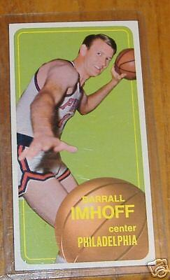 topps 1970 basketball tall boys  darrall imhoff   # 57