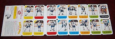 Post cereal panel 1982-83 Toronto Maple Leafs