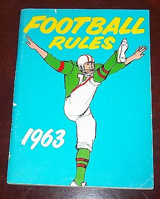 Official Football Rules  1963 guide