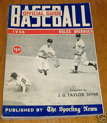 the sporting news baseball guide 1956  martin /coleman