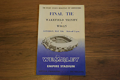 Rugby League Challenge Cup Final Match Programme Wakefield Trinity V Wigan 1963