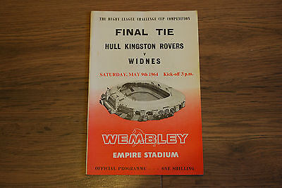 Rugby League Challenge Cup Final Programme Hull Kingston Rovers V Widnes 1964