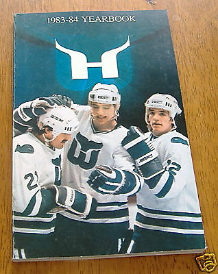 hartford whalers media quide year book 1983-84