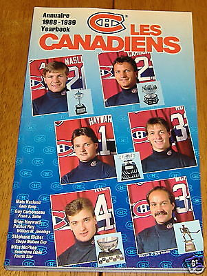 montreal canadians media quide 1988-89