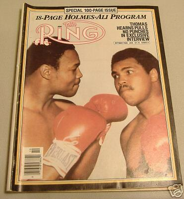 boxing  ring magizine october 1980  holmes /ali