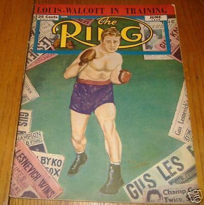 boxing  ring magizine  june 1948   gus lesnevich