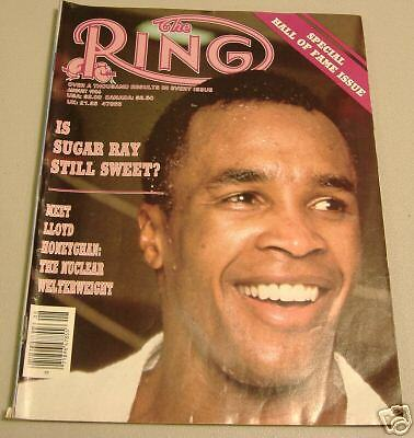 boxing  ring magizine    august 1986   ray leonard