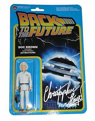 Christopher Lloyd Signed Back To The Future Funko Figure With Exact Proof