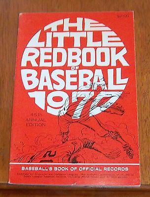 The Little Red Book of Baseball 1970  Baseball's Book of Official Records