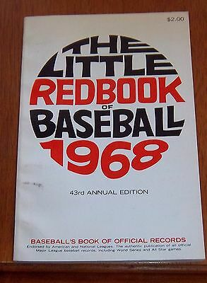 The Little Red Book of Baseball 1968  Baseball's Book of Official Records