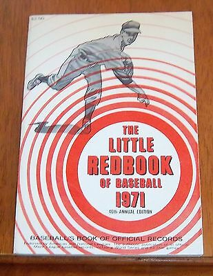 The Little Red Book of Baseball 1971  Baseball's Book of Official Records