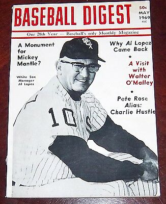 Baseball Digest May 1969 Al Lopez