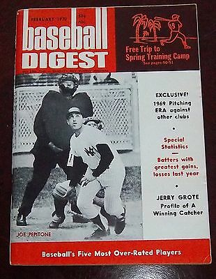 Baseball Digest February 1970 Joe Pepitone
