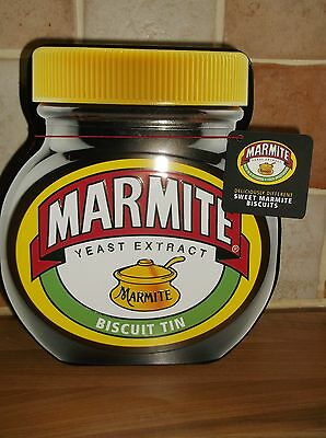 Marmite Biscuit Tin With Sweet Marmite Biscuits
