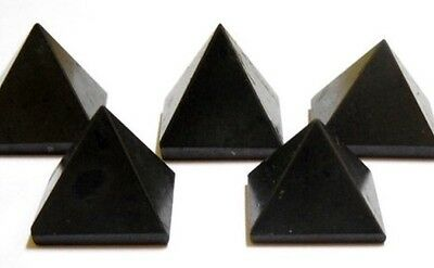 Reiki Energy Charged Black Tourmaline Pyramid Crystal Protection Healing Energy