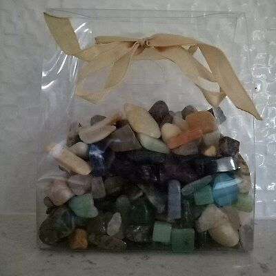 Tumbled Assorted Gem Stones 0.5 Kg - Special Rocks Collect Gift Crystals