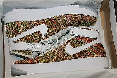 Ds 2016 Nike Air Force 1 Ultra Flyknit Mid Multicolor Sz 12 Af1 817420 700