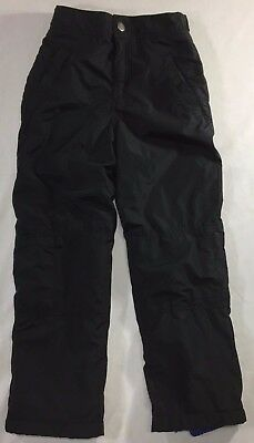 GYMBOREE Snow pants Youth size 8 (adj) Black Fleece lined waterproof snowboard
