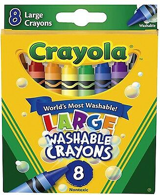 Crayola Washable Large Crayons - 8 pack in 8 colours