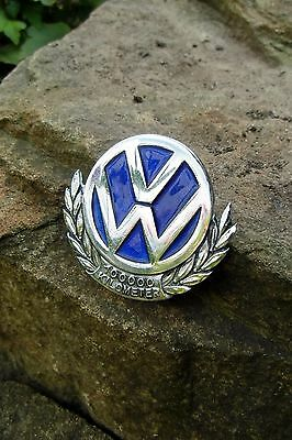 Vintage GERMAN Volkswagen VW Bug COX Beetle 100000 km Car Badge MARKED Paulmann