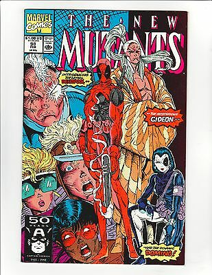 The New Mutants #98 - First Appearance of Deadpool! 9.6 Near Mint + Key book!