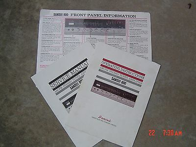 Sansui 800 Receiver Users / Service Manuals