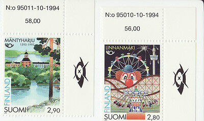 Finland 1995 MNH - Norden - set of two stamps, corner stamps of sheet