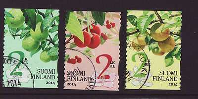 Finland 2014 Used - Garden Fruits - Flora - 3 stamps