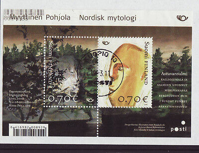 Finland 2008 Used - Nordic stamps - Mythical places  - m/sheet