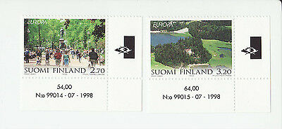 Finland 1999 MNH - EUROPA - Nature - set of two stamps, corner stamps of sheet