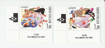 Finland 1998 MNH - National Festivals, EUROPA - set of two stamps corner stamps