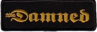 The Damned- Gold Namebar Logo Embroidered Patch