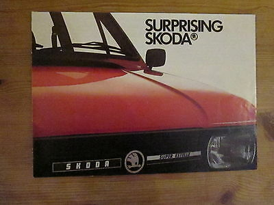 "Skoda Brochure 1983, titled ""Surprising Skoda"""