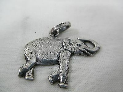 Mexican Sterling SIlver 925 Elephant Pendant 7gms