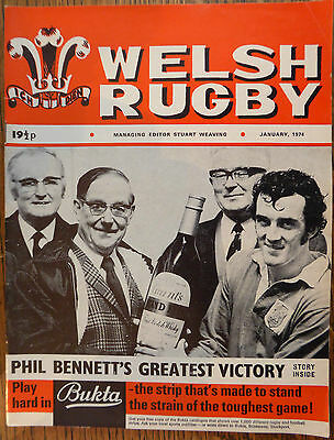 WELSH RUGBY MAGAZINE January 1974 Phil Bennett's Greatest Victory