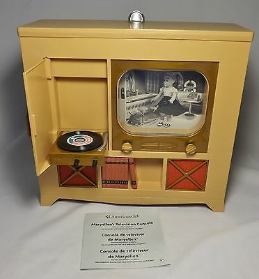 """American Girl MARYELLEN TELEVISION CONSOLE for 18"""" Dolls Furniture TV - Used"""